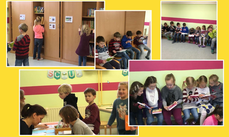 Schulbücherei-Besuch