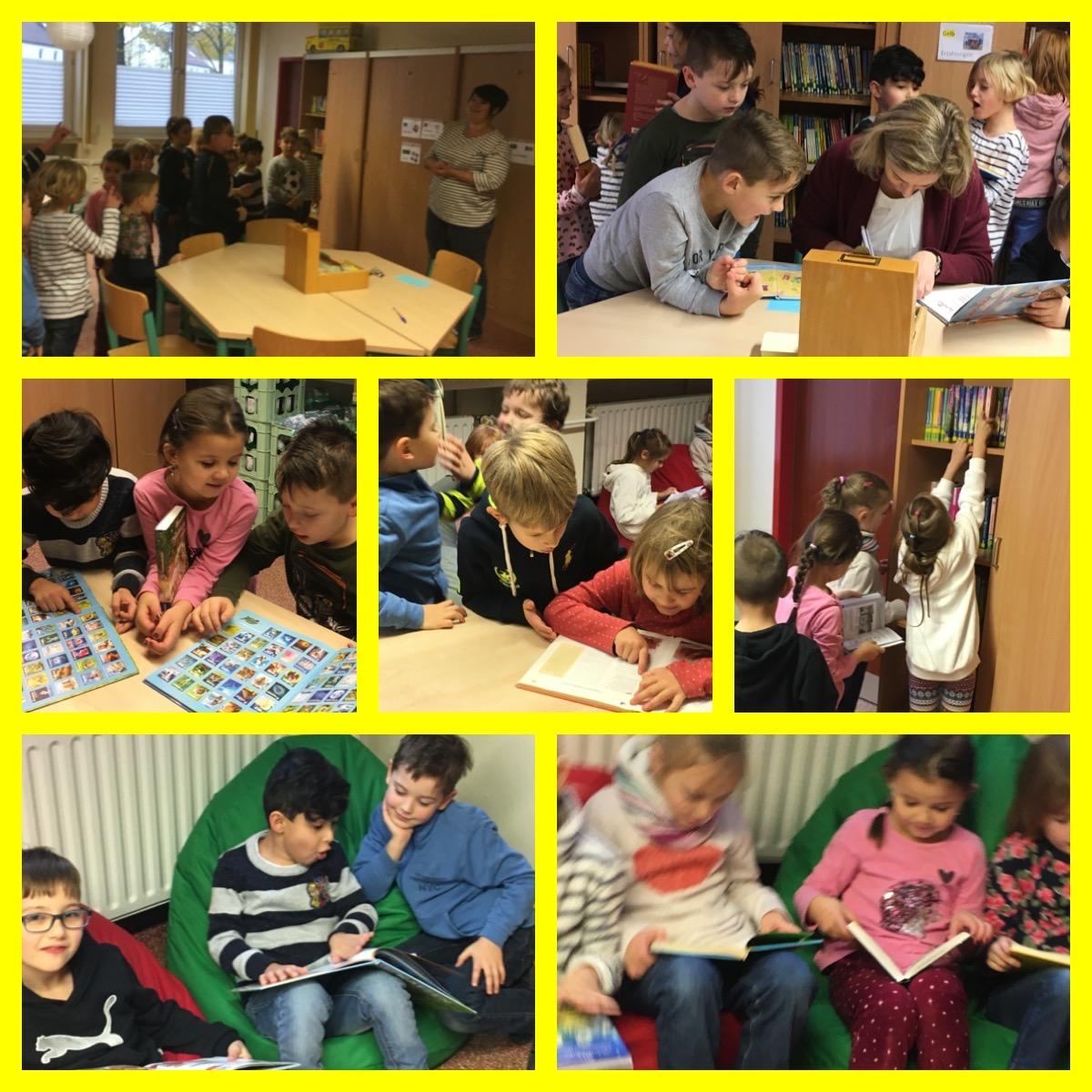 Besuch der Schulbücherei