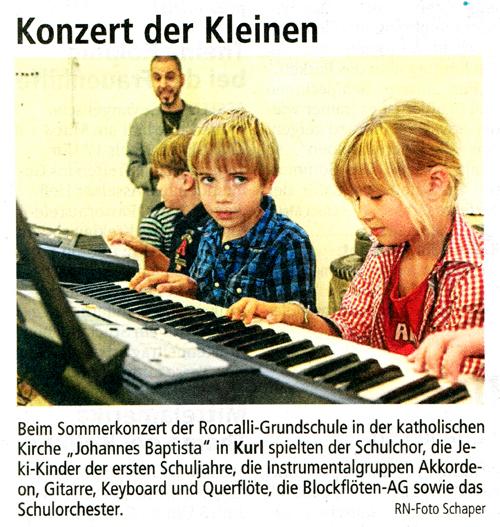 Presse kleine Konzert