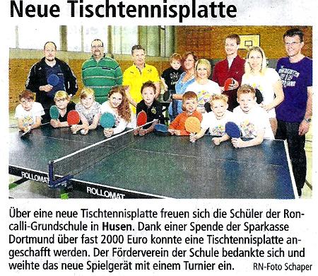 Presse Tischtennisplatte