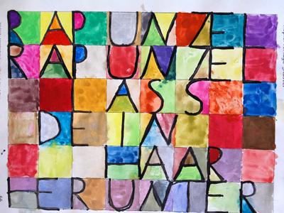 Projekt Malen wie Paul Klee